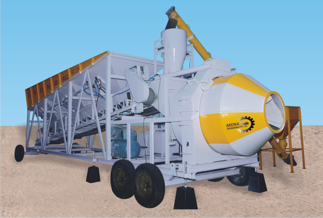 Fully Automatic Concrete Batching & Mixing Plant (AHP Series)